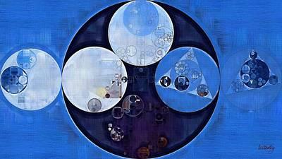 Light Paint Digital Art - Abstract Painting - Light Steel Blue by Vitaliy Gladkiy