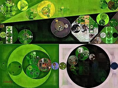Green Color Digital Art - Abstract Painting - Limeade by Vitaliy Gladkiy