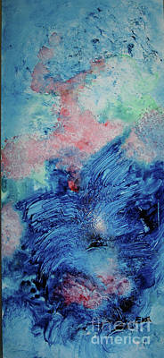 Malibu Painting - Abstract Painting Malibu Beach Evening  by Eva Kurkjian