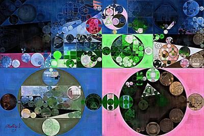Round Digital Art - Abstract Painting - Maverick by Vitaliy Gladkiy