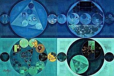 Fanciful Digital Art - Abstract Painting - Medium Aquamarine by Vitaliy Gladkiy