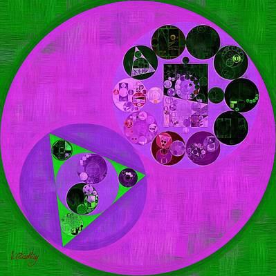Rectangles Digital Art - Abstract Painting - Medium Orchid by Vitaliy Gladkiy