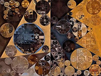 Twine Digital Art - Abstract Painting - Medium Taupe by Vitaliy Gladkiy