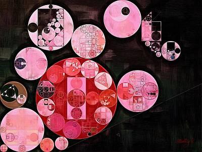 Rectangles Digital Art - Abstract Painting - Milano Red by Vitaliy Gladkiy
