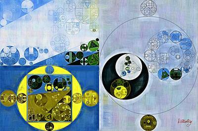 Painted Turtle Wall Art - Digital Art - Abstract Painting - Nebula by Vitaliy Gladkiy