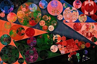 Feelings Digital Art - Abstract Painting - New York Pink by Vitaliy Gladkiy