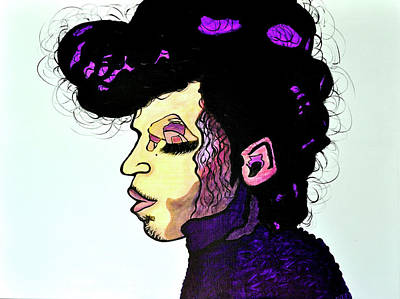 Abstract Painting Of Prince Original by Davids Digits