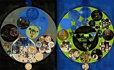 Abstract Painting - Olive Green Art Print by Vitaliy Gladkiy