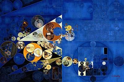 Abstract Painting - Oxford Blue Print by Vitaliy Gladkiy