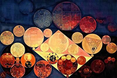 Technology Background Digital Art - Abstract Painting - Pale Carmine by Vitaliy Gladkiy