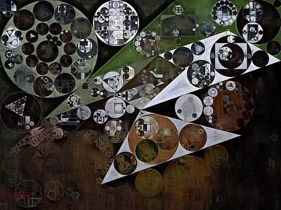 Panda Digital Art - Abstract Painting - Panda by Vitaliy Gladkiy