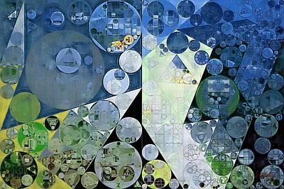 Abstract Painting - Paris White Art Print by Vitaliy Gladkiy