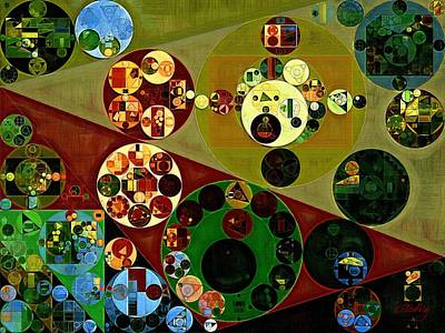 Brown Abstract Digital Art - Abstract Painting - Pesto by Vitaliy Gladkiy