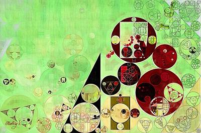 Forms Digital Art - Abstract Painting - Reef by Vitaliy Gladkiy