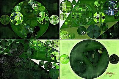 Handmade Rings Digital Art - Abstract Painting - Sap Green by Vitaliy Gladkiy