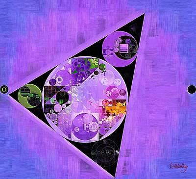 Rich Blue Digital Art - Abstract Painting - Slate Blue by Vitaliy Gladkiy