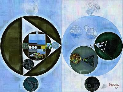 Fanciful Digital Art - Abstract Painting - Smalt Blue by Vitaliy Gladkiy