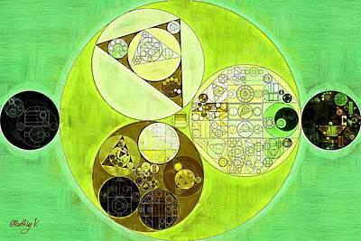Forms Digital Art - Abstract Painting - Sulu by Vitaliy Gladkiy