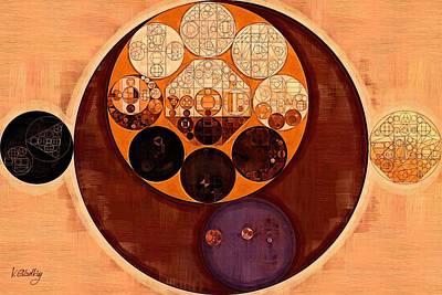 Abstract Painting - Tahiti Gold Art Print by Vitaliy Gladkiy