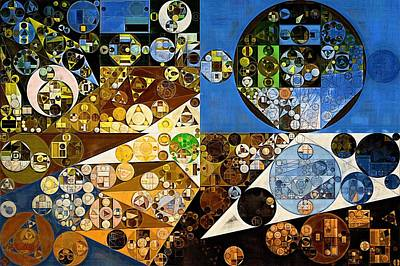 Abstract Forms Digital Art - Abstract Painting - Winter Hazel by Vitaliy Gladkiy