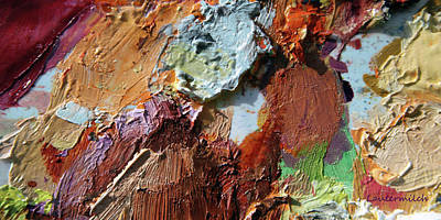 Photograph - Abstract Palette 1-2017 by John Lautermilch