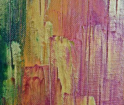 Painting - Abstract Palette Knife Painting - Gold by Marianna Mills