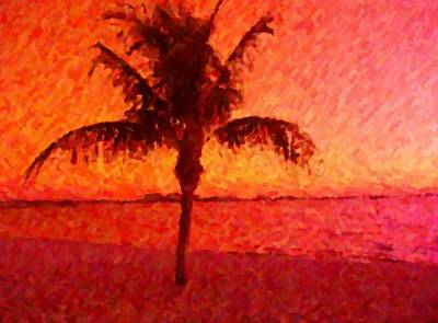 Mixed Media - Abstract Palm by Florene Welebny