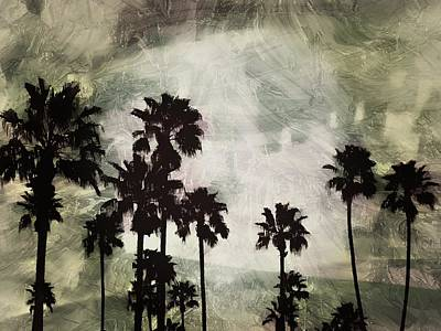 Photograph - Abstract Palms by Regina Arnold