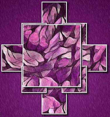Digital Art - Abstract Panels In Magenta by Megan Walsh
