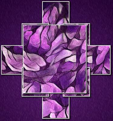 Digital Art - Abstract Panels In Purple by Megan Walsh