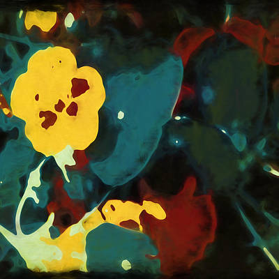 Photograph - Abstract Pansies by Bonnie Bruno