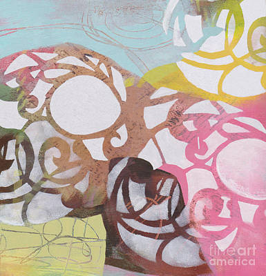 Painting - Abstract Pastel Swirls by Patricia Cleasby