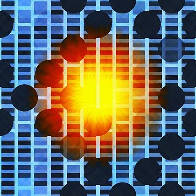 Digital Art - Abstract Patterned Sunburst by Mario Carini