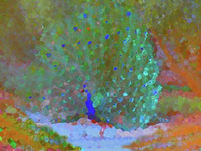 Abstract Peacock Original
