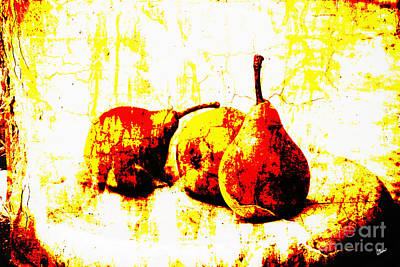 Photograph - Abstract Pears by Alana Ranney
