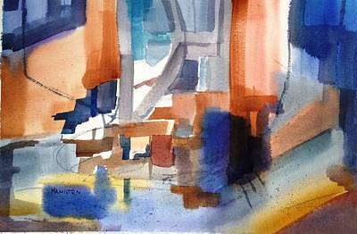 Painting - Abstract- Peggy's Cove by Larry Hamilton