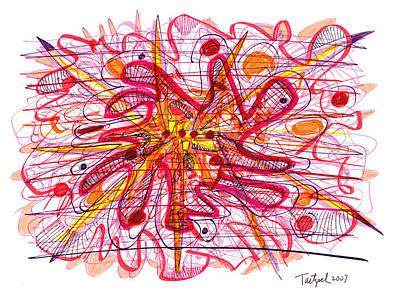 Abstract Pen Drawing Fifteen Art Print by Lynne Taetzsch