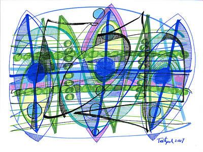 Beastie Boys - Abstract Pen Drawing Twenty-One by Lynne Taetzsch
