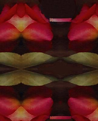 Roses Mixed Media - Abstract by Pepita Selles