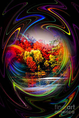 Artdeco Painting - Abstract Perfection 8 Autumn  Impression by Walter Zettl