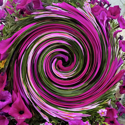 Photograph - Abstract Petunias Gone Wild by Sylvia Thornton