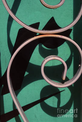Photograph - abstract photographs - Wrought Iron on Green by Sharon Hudson