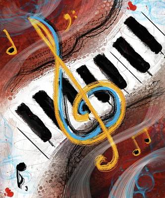Digital Art - Abstract Piano Concert by Eduardo Tavares