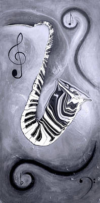 Piano Keys In A Saxophone 5 - Music In Motion Art Print
