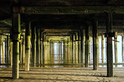 Abstract Beach Landscape Photograph - Abstract Pier by Martin Newman