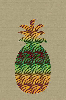 Digital Art - Abstract Pineapple by Aimee L Maher Photography and Art Visit ALMGallerydotcom