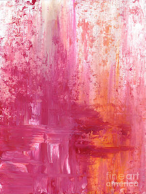 Painting - Abstract Pink And Orange Original Painting And Prints The Fire Within By Megan Duncanson by Megan Duncanson