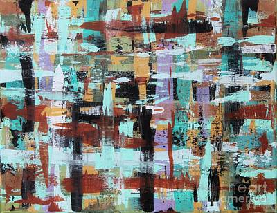 Rust Painting - Abstract Plaid by Karla Gerard