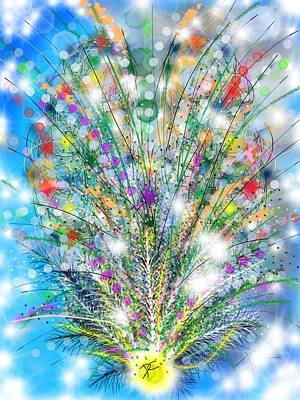 Digital Art - Abstract Plant by Darren Cannell