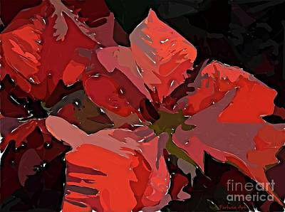 Digital Art - Abstract Poinsettia by Dragica Micki Fortuna